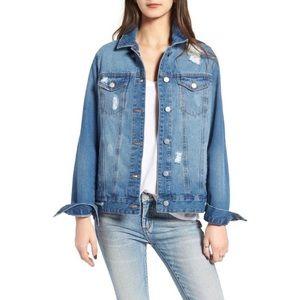 BP. Oversized denim trucker jacket